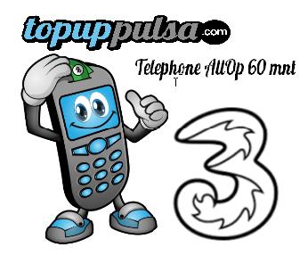 Paket Telp Tri Paket Telephone - THREE PAKET TELP 60 MNT