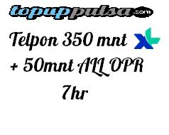 Paket Telp XL Paket Telephone - TELPON 350MNT + 50MNT ALL OPR 7HR